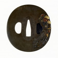 Tsuba with the Chinese General Kanyu on His Horse
