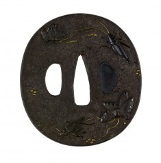 Tsuba with Insects