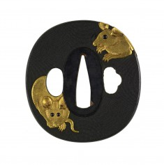 Tsuba with Mice