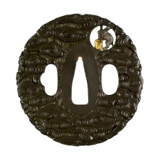 Tsuba with the Rabbit in the Moon