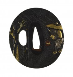 Tsuba with the Oil Monk