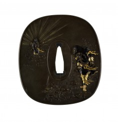 Tsuba with the Sun Goddess Amaterasu and Her Brother Susano-ô