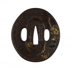 Tsuba with Spring Flowers
