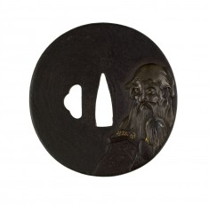 Tsuba with a Chinese Immortal