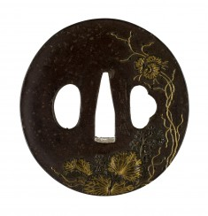 Tsuba with a Flowering Gourd Vine