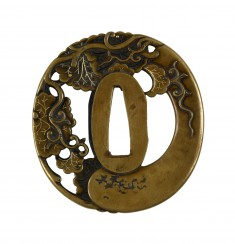 Tsuba with a Gourd on a Vine