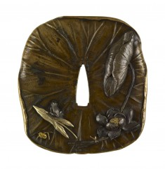 Tsuba in the Shape of a Lotus Leaf