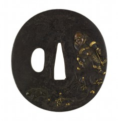 Tsuba with a Chinese Hunter and a Rabbit