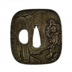Tsuba with the Bell of Dôjôji