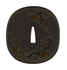 Tsuba with Plum Blossoms
