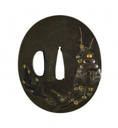 Tsuba with New Year's Decorations