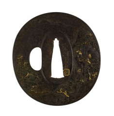 Tsuba with a Chinese Landscape