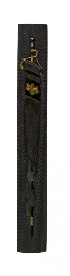 Kozuka with Banner with Paulownia Crest