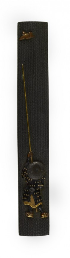 Kozuka with a Man and a Blowpipe