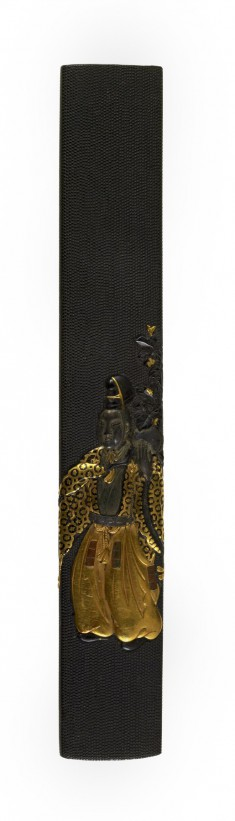 Kozuka with a Figure in Heian Period Court Dress