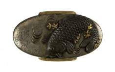 Kashira with Carp and Water Milfoil