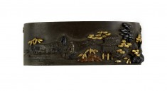 Fuchi with Landscape and Figures