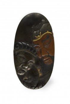 Kashira with the Chinese General Kanyu (Ch. Guan Yu [Kuan Yu])