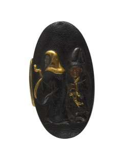 Kashira with a Chinese Sage and his Attendant