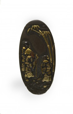 Kashira with Seven Sages in a Bamboo Grove