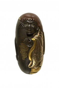 Kashira with a Shôjô and Sake Cup