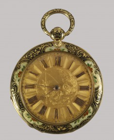 Case Watch with Outer and Inner Pair of Enamels