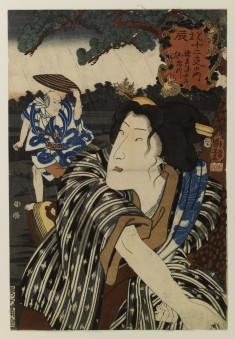 Bando Shuka I as the wife Otatsu