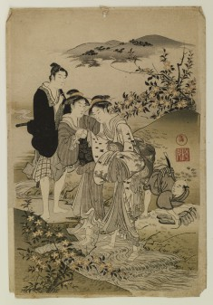 Ladies Standing in a Stream