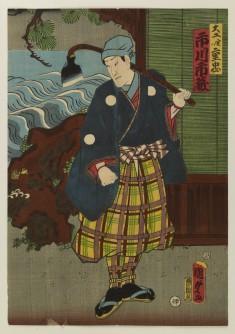 Ichikawa Ichizo III as Oyu Jitsuwa Shigetada