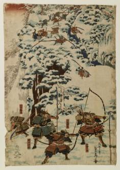 Samurai Fight on a Snowy Mountainside