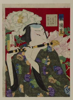 The Actor Arashi Rikan IV Playing the Flute