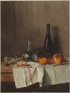 Still Life with Wine, Water, Fruit, and Nuts