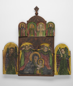 Double-sided Polyptych with the Virgin and Child, Saint George and the Young Woman of Beirut, Archangels, and Saints