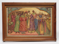 Painted Plaque with a Scene of the Coronation of Tsar Michael Romanov