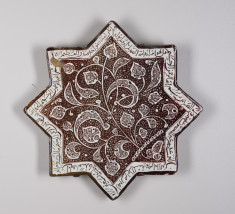 Lusterware Star-Shaped Tile