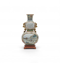 Vase for Wall of a Sedan Chair with Poem