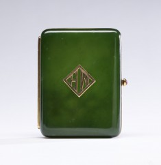 Cigarette Case in the Style of Fabergé with the Initials of Henry Walters