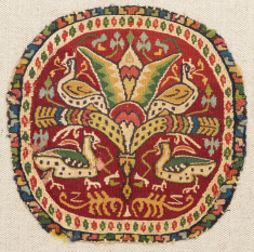Garment Fragment with Tree and Birds