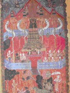 Phra Malai in Tavatimsa Heaven
