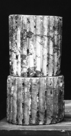 Two Fragments of a Fluted Column Drum