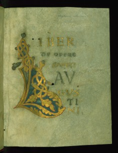 Modern Illuminated Title Page from a Collection of Works: Initial L