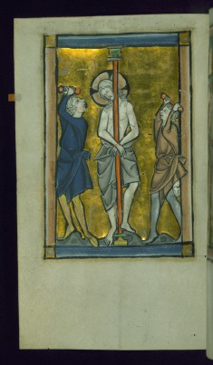 Leaf from Psalter: Flagellation