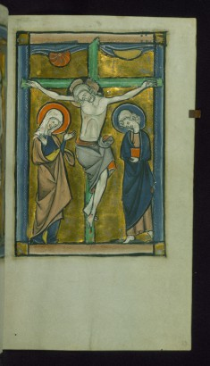 Leaf from Psalter: Crucifixion