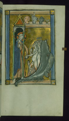 Leaf from Psalter: Harrowing of Hell