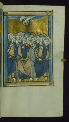 Leaf from Psalter: Pentecost