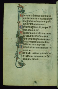 Leaf from Fieschi Psalter: Psalter Text