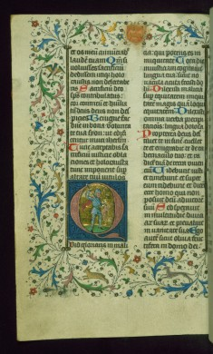 Leaf from Breviary: Psalm 51, Initial D with a Massacre of an Innocent