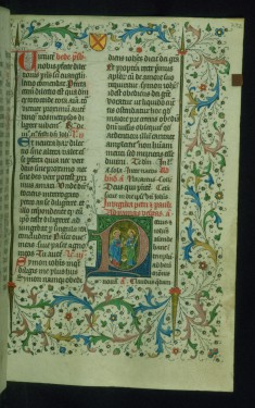 Leaf from Breviary: Saints Peter and Paul from Sanctorale, Initial P