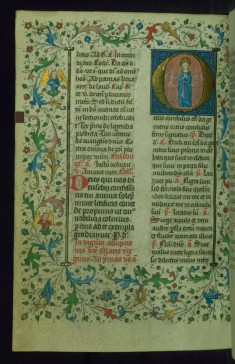 Leaf from Breviary: Assumption of the Virgin from Sanctorale, Initial O